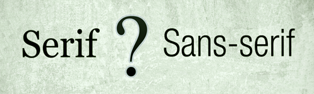 serif vs sans serif - commo estudio