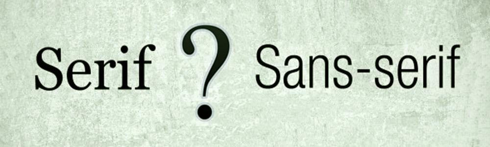 serif vs sans serif - commo estudio